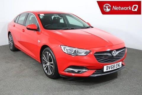 Red Vauxhall Insignia 1.5 Grand Sport SRi 2018