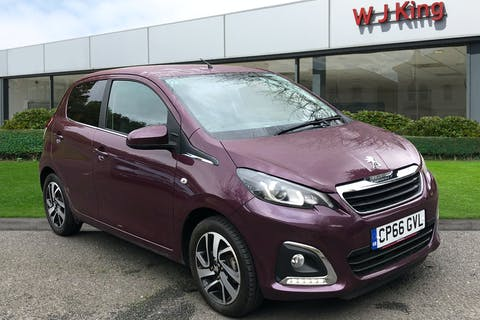 Purple Peugeot 108 1.2 Puretech Allure 2017