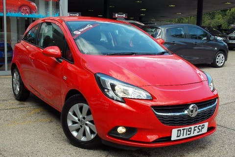 Red Vauxhall Corsa 1.4 Design 2019
