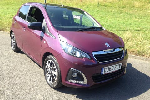 Purple Peugeot 108 1.0 Allure 2018