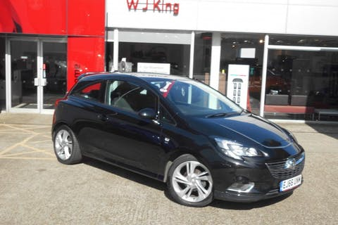 Black Vauxhall Corsa 1.4 SRi Vx-line 3 Door Automatic 2016