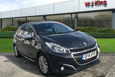 Grey Peugeot 208 1.6 Blue HDi Allure 2016