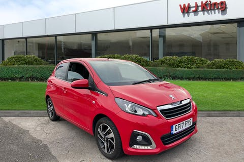 Red Peugeot 108 1.2 Puretech Allure 2017
