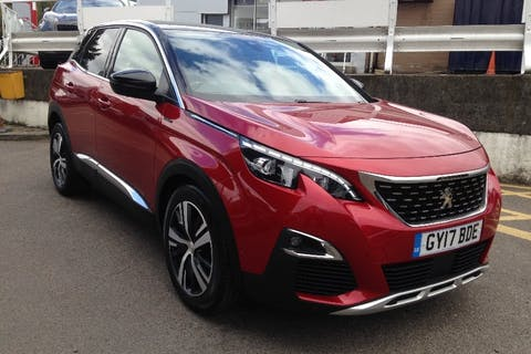 Red Peugeot 3008 1.6 Thp S/S GT Line 2017