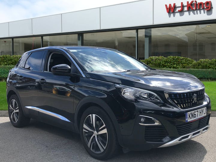 Black Peugeot 3008 1.6 Thp S/S Allure 2018