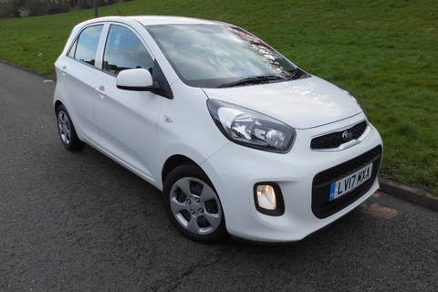 White Kia Picanto 1.0 1 Air 2017