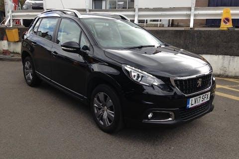 Black Peugeot 2008 1.2 Puretech Active 2017