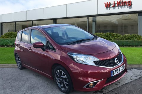 Red Nissan Note 1.5 DCi Tekna 2014