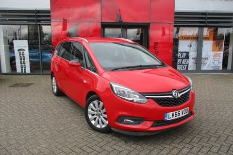 Red Vauxhall Zafira Tourer 1.4 Energy 2016