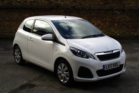 White Peugeot 108 1.0 Active 2017
