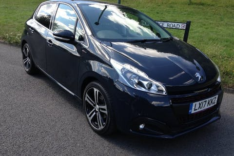 Grey Peugeot 208 1.6 Blue HDi S/S GT Line 2017