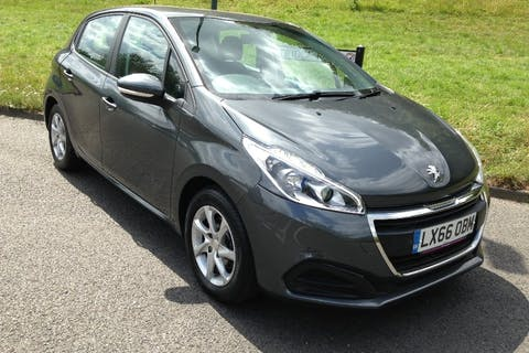 Grey Peugeot 208 1.2 Active 2016