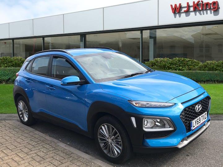 Blue Hyundai Kona 1.0 SE 2020