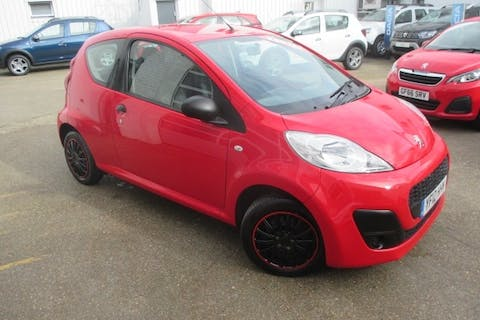 Red Peugeot 107 1.0 Access 2012