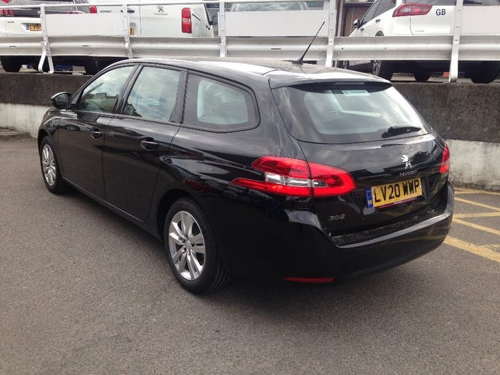 Black Peugeot 308 1.5 Blue HDi S/S SW Active 2020