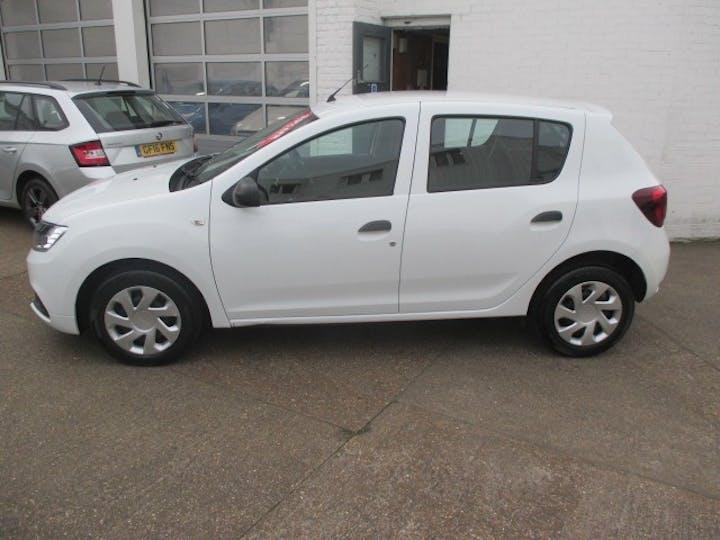 White Dacia Sandero 1.0 Ambiance Sce 2018